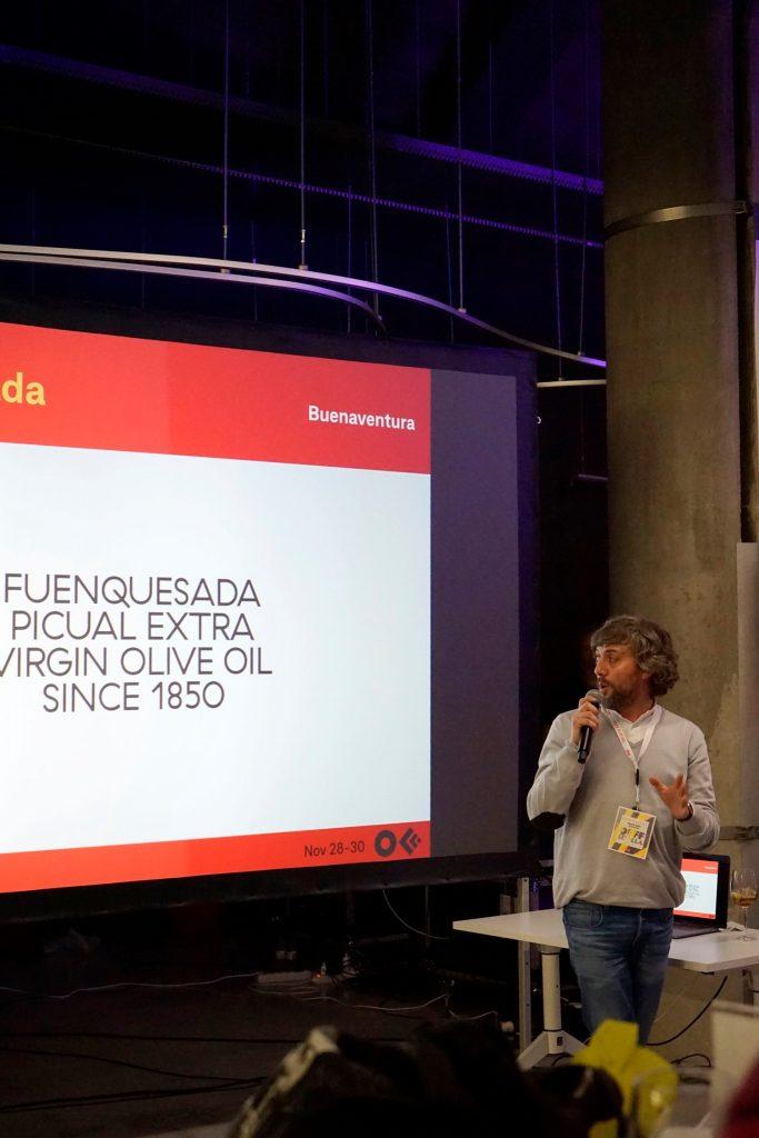 Presentación de Fuenquesada, nuestro aceite de oliva virgen extra, en OFFF Sevilla 2019.
